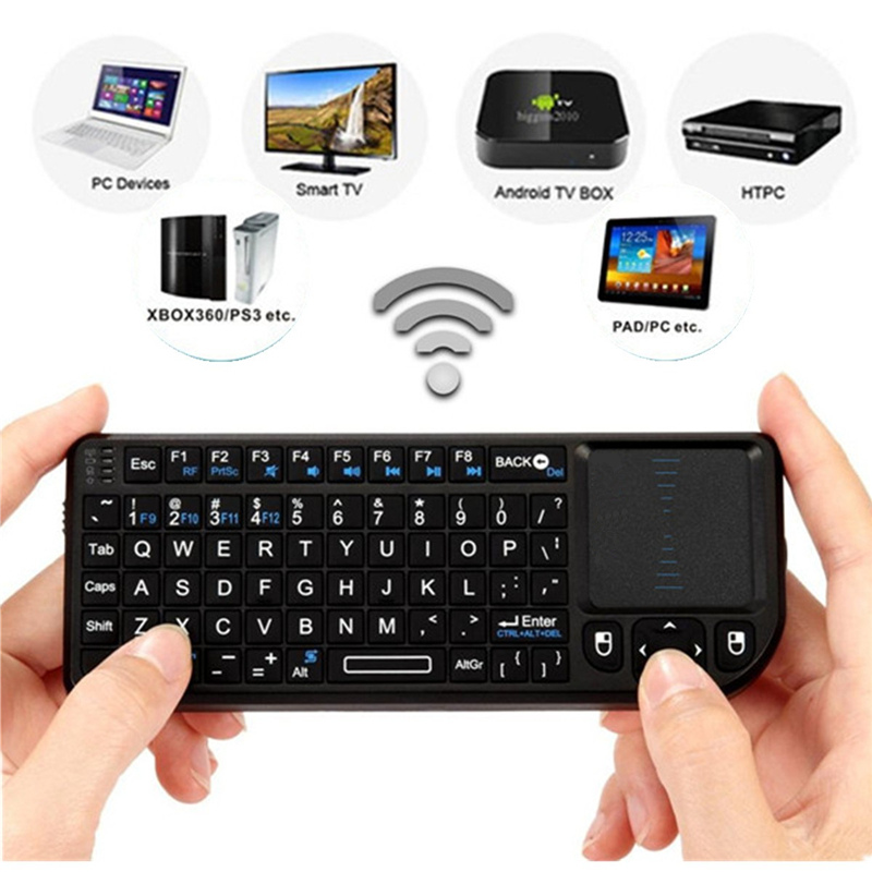 3 in 1 Rii mini X1 Handheld 2.4G RF Wireless Keyboard Qwerty with Touchpad Mouse Universal for PC Notebook Smart Google TV Boxes(China (Mainland))