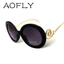 Round Big Frame Fox Metal Temple Glasses New Vintage Baroque Fashion Summer Cool Sunglasses Women Brand Designer shades S1325(China (Mainland))