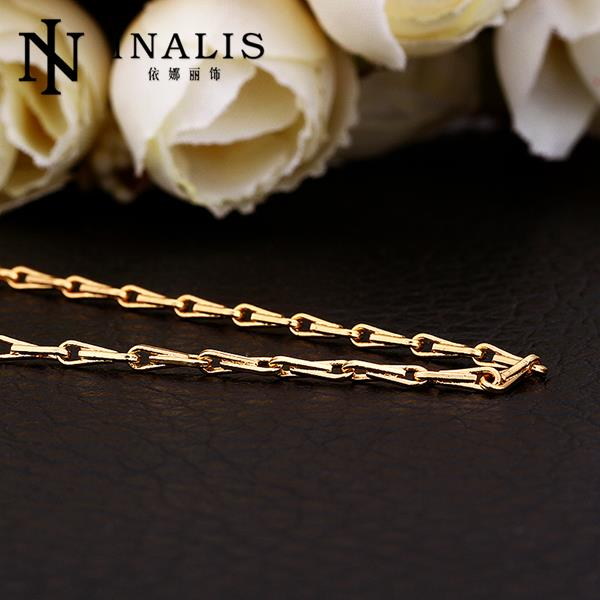 C025 Wholesale Cheap Price Top Quality China supplier 18k gold plated Women long chain Necklace(China (Mainland))