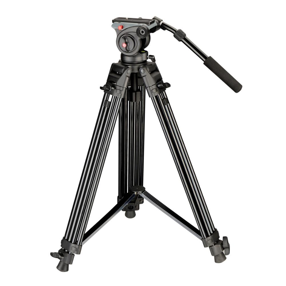 DIGIPOD Professional Video Tripod DSLR Camera 55inch Professional Fluid Video Tripods Kits for Camcorder DVT-75AW + DVH-5W(China (Mainland))