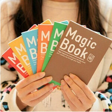Wholesales free shipping 14*10.5cm lovely 6 colors magic book notebook(1piece) K6730