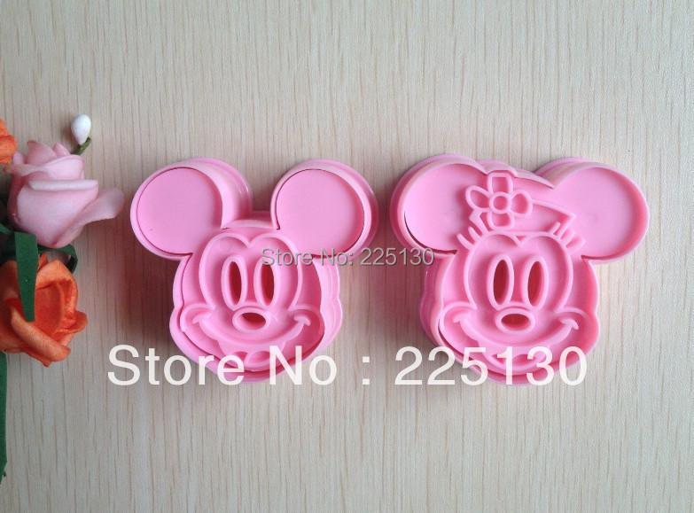 2PCS Pink Shape Mold Sugar Arts Set Fondant Cake Tools/Cookie Cutters A107(China (Mainland))