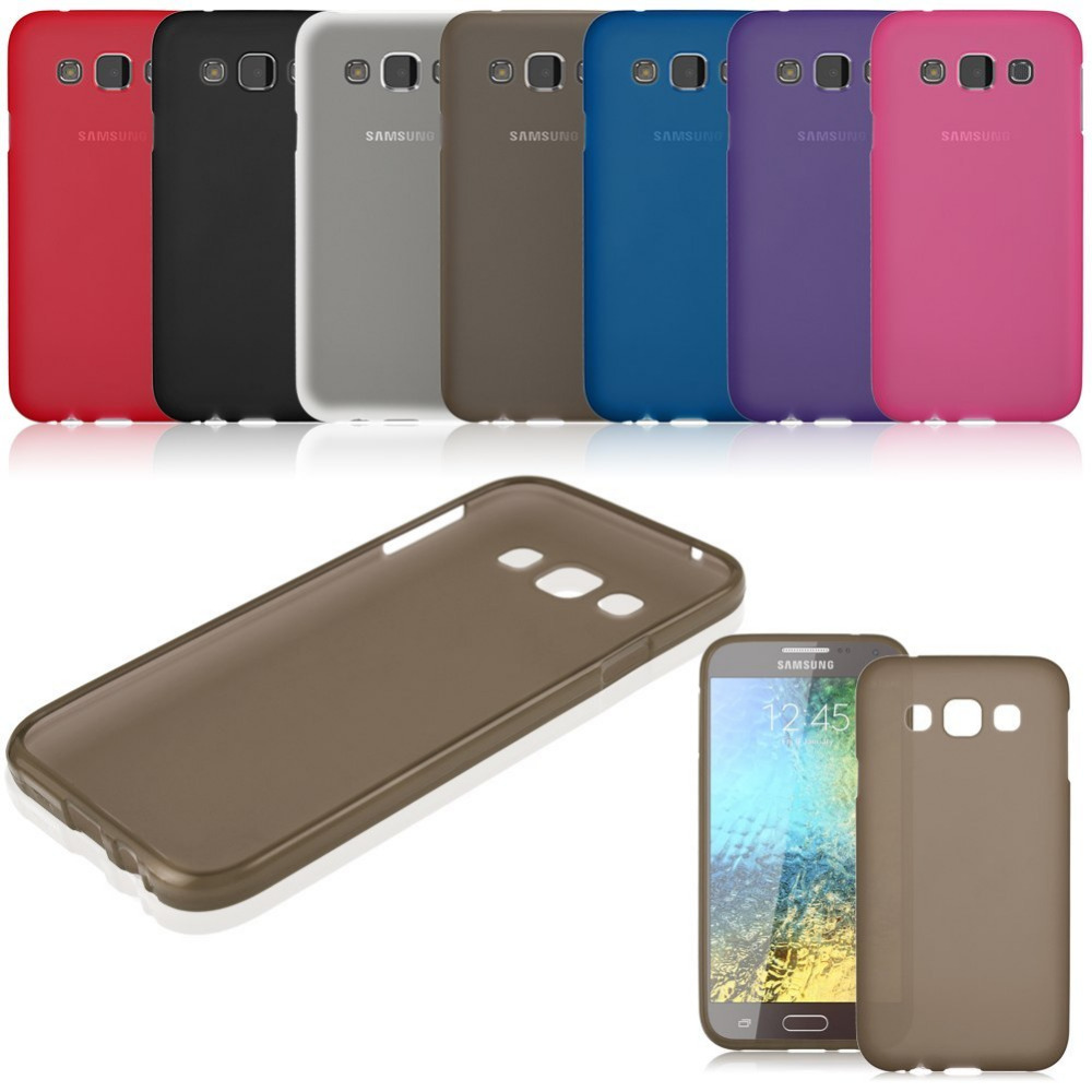 Cellphone Case For Samsung Frosted Gel TPU Rubber Case Soft Cover For Samsung Galaxy E7 SM-E700F E700H(China (Mainland))