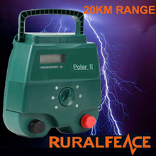 energia solare opzionale 2j 12kv portable electric fence caricatore energisers fence energizer con schermo lcd(China (Mainland))
