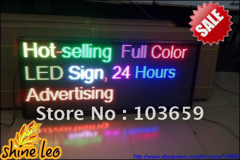 """Special Price! Indoor Full Color Video Advertising P7.62 LED Display Size W41.33"""" x H21.65"""" Text Include Control Card(China (Mainland))"""