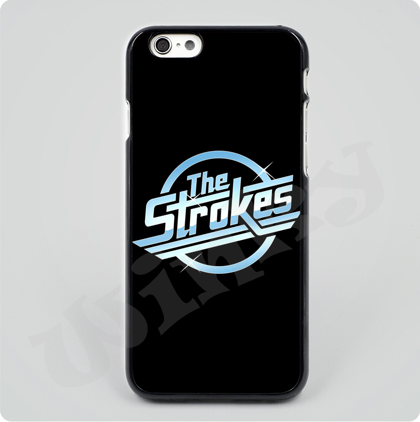 2015 The Strokes News Black Hard Skin mobile phone Cases Cover housing For iPhone 4S 5S 6 6plus Free shipping with gift(China (Mainland))