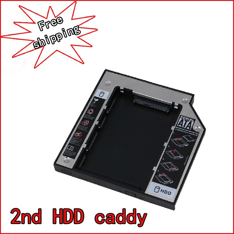 12.7mm IDE to SATA 2nd Hard Drive HDD Caddy Adapter For Dell Vostro 1000 Latitude 110L,120L,131L(China (Mainland))