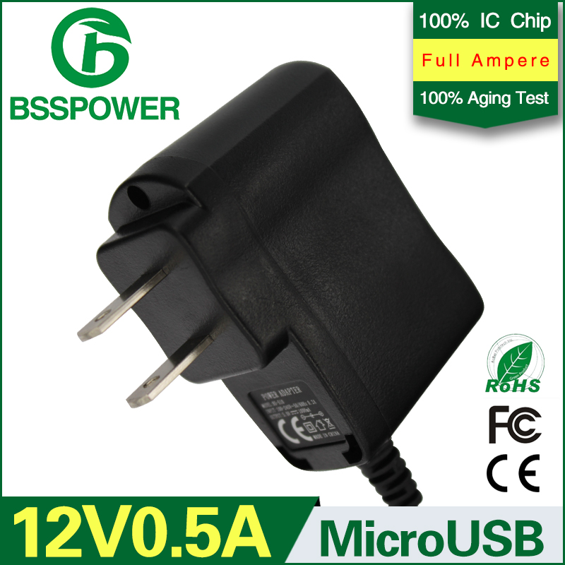 Hot selling US plug dc 12v 0.5a switching power adapter supply 500mA ac / dc adaptor micro usb port(China (Mainland))