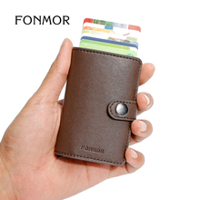 FONMOR MINIWALLET RFID Wallet Automatic Card Holder Fashion Aluminum Credit Card Case Creditcardhouder Cardprotectors(China (Mainland))