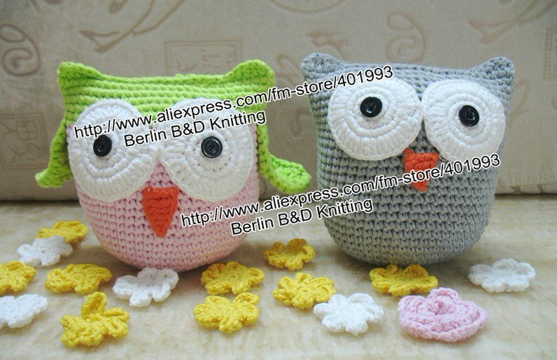 20pcs/lot Baby Toy Owl Plush OWL doll, soft Crochet OWL 5.9 inches Animal Shape baby dolls,Boy/girl's Puppets(China (Mainland))