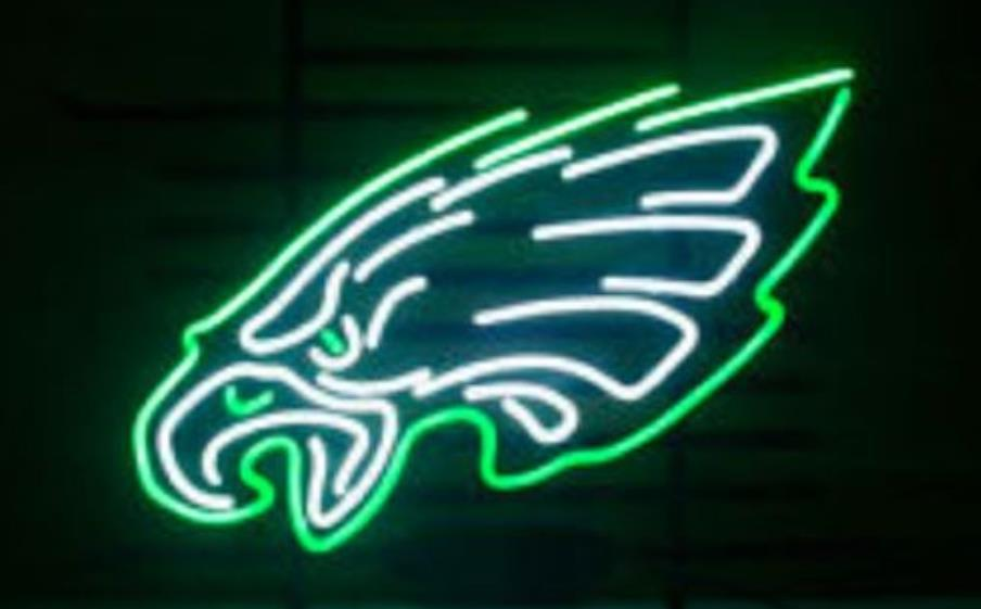 "Business Custom NEON SIGN board For Football NFL Philadelphia Eagles REAL GLASS Tube BEER BAR PUB Club Shop Light Signs 14*10""(China (Mainland))"