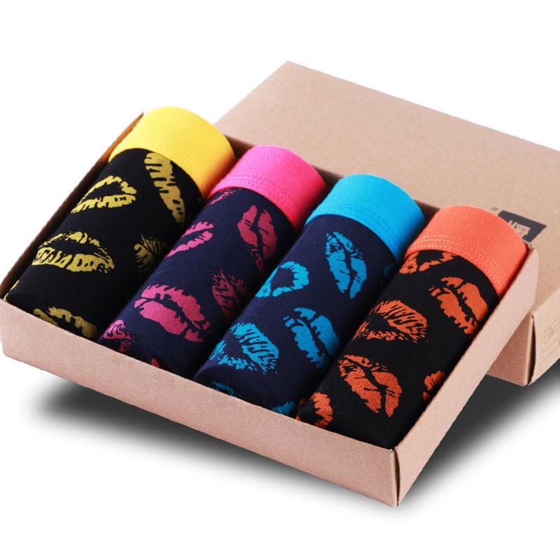 Top Quality Men Boxers Plus Size Underpants Man Cotton Boxers Printed Breathable Boxer Shorts Modal Underwear 4pcs/lot 0266