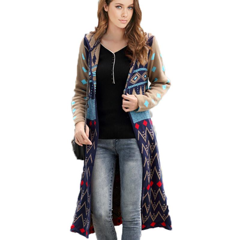 Women Sweaters 2016 Spring Autumn Fashion Long Cardigans Casual Outwears Warm Female Sweater Jacket Femininos Coat Clothing(China (Mainland))