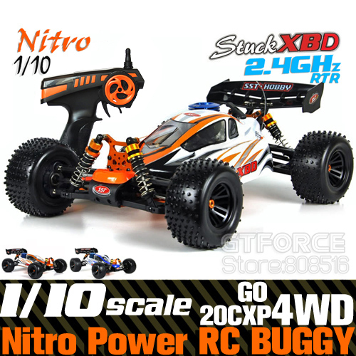SST Racing 1/10 Scale Nitro Powered Rc Off-road Buggy, 2.4GHz 4WD Rc Car Nitro , 125CC Tanks 20CXP Engine Aluminium Chassis, RTR