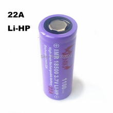 High Performance IMR 18500 22A 3 7v 1100mah J C M Rechargeable lithium ion battery Cell