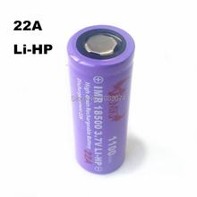 Высокая производительность IMR 18500 костюм-22а 3.7 В 1100 мАч J.C.M сотовый литий-ионный аккумулятор для e-новые сигареты фонари