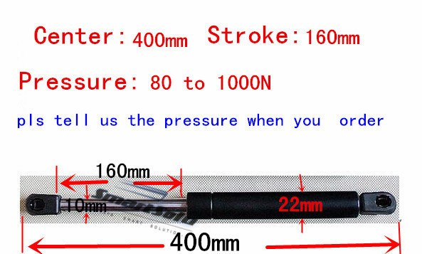 free shipping 80 to 1000N force 400mm central distance,160mm stroke, pneumatic Auto Gas Spring, Lift Prop Gas Spring Damper(China (Mainland))