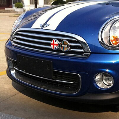 Auto accessories For Mini cooper clubman countryman front net decorating cute and cool design car sticker styling emblem(China (Mainland))