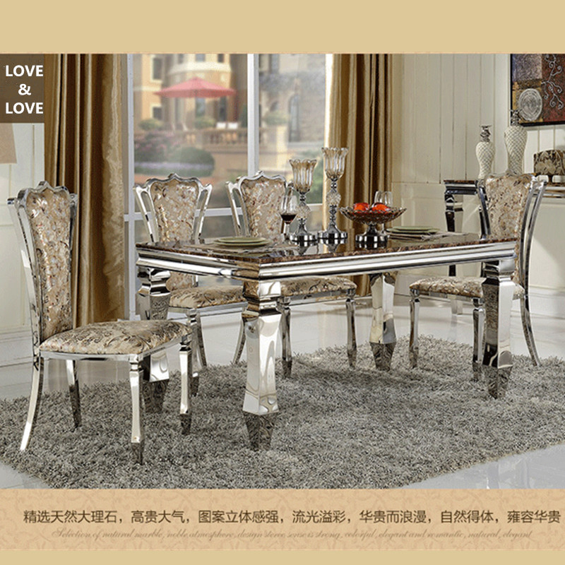 dining room table dimensions 1500*900*750mm modern dining table & chair set for dining room(China (Mainland))