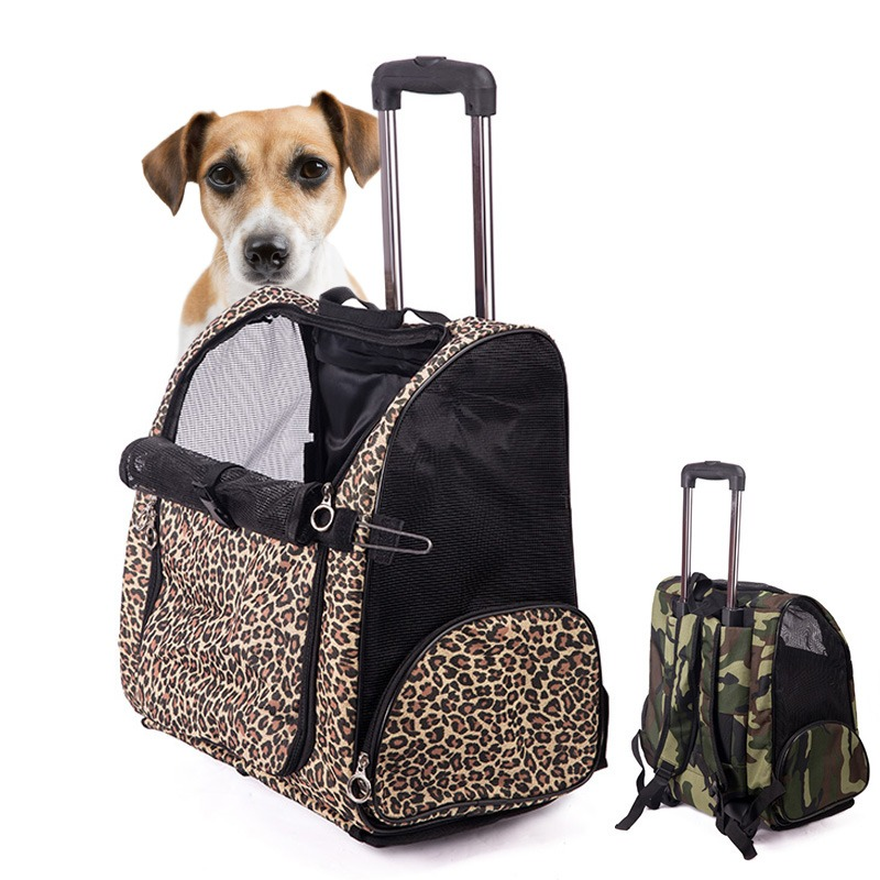 High Quality Portable Dog Bag Travel Tote Trolley Luggage Puppy Rolling Carrying Kennel Backpack Pet Carrier(China (Mainland))