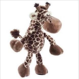 stuffed animal plush 25cm jungle giraffe plush toy soft doll w2799(China (Mainland))