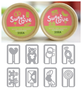 4 boxes of Cute metal bookmarks for books,mini sweet love korea book line marker for kids gift/friend(China (Mainland))