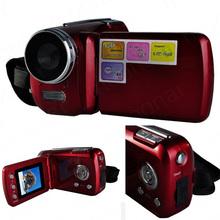 ROT/SCHWARZ Mini DV 1,8 zoll D1 Pcs SD/MMC Karte Kamera 4 x Digital Zoom 12 Mega pixel TFT LCD Camcorder mit Handgriff DV DVR GESCHENK(China (Mainland))