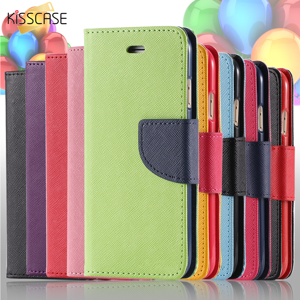 KISSCASE For iPhone 5S SE Phone Case Luxury Color Leather Flip Case For Apple iPhone 5 5S 5G Card Slot Cover Bag For iPhone SE(China (Mainland))