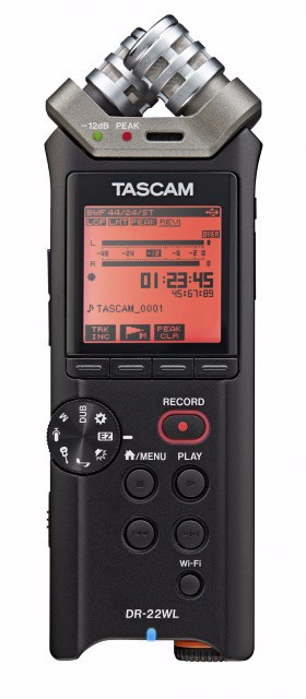 Tascam DR-22WL Latest Wireless New Portable Handheld Recorder with Wi-Fi - Bundled Portable Recorder free shipping(China (Mainland))
