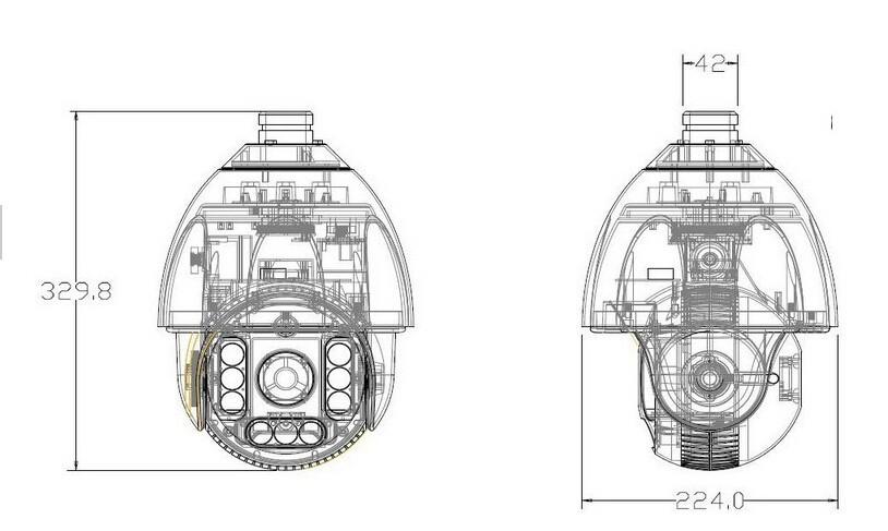 36X Zoom Sony CCD 700TVL PTZ camera CCTV Security high