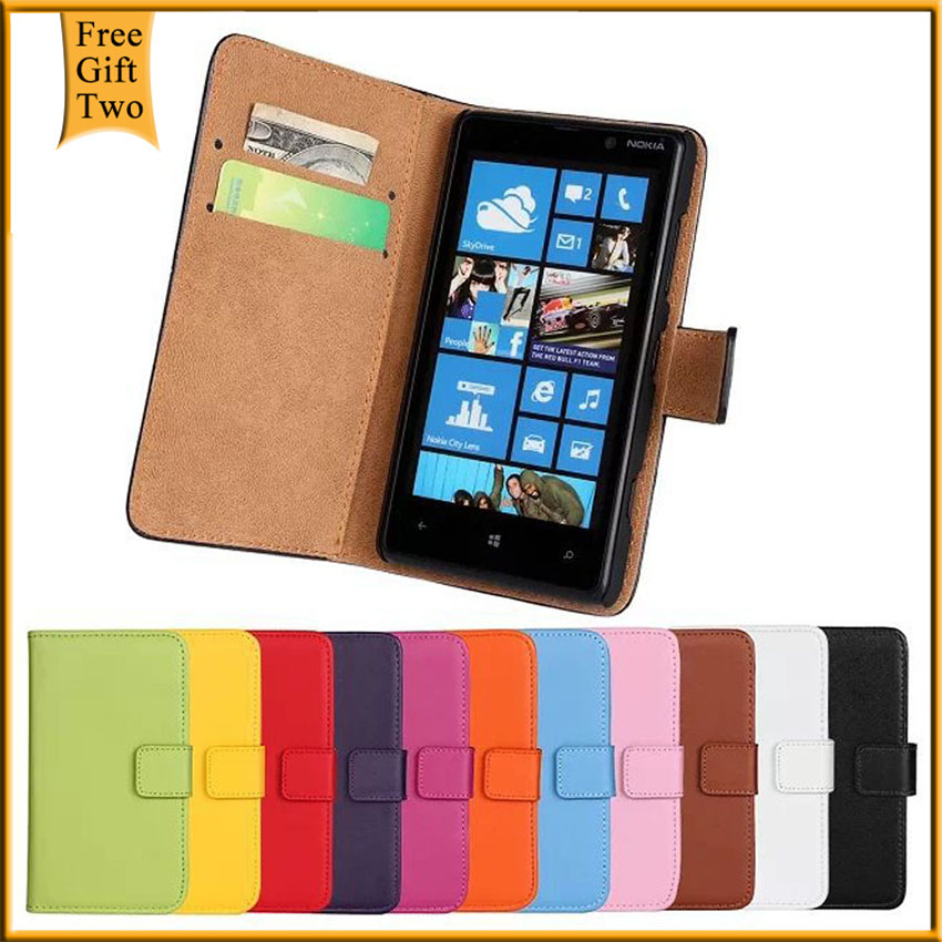 Luxury Retro Real Genuine Leather Wallet Case For Nokia Lumia 820 Flip Stand Book Style Cell Phone Cover Bag With Card Holder(China (Mainland))