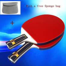 High end best quality table tennis professional wooden handle grip to table tennis racket shake hand pingpong racket paddle(China (Mainland))
