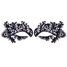 1Pair New Paper Cutting Flower Diamond Eye Sticker Eyeliner Luxury Natural False Eyelashes 03 #67507 (China (Mainland))