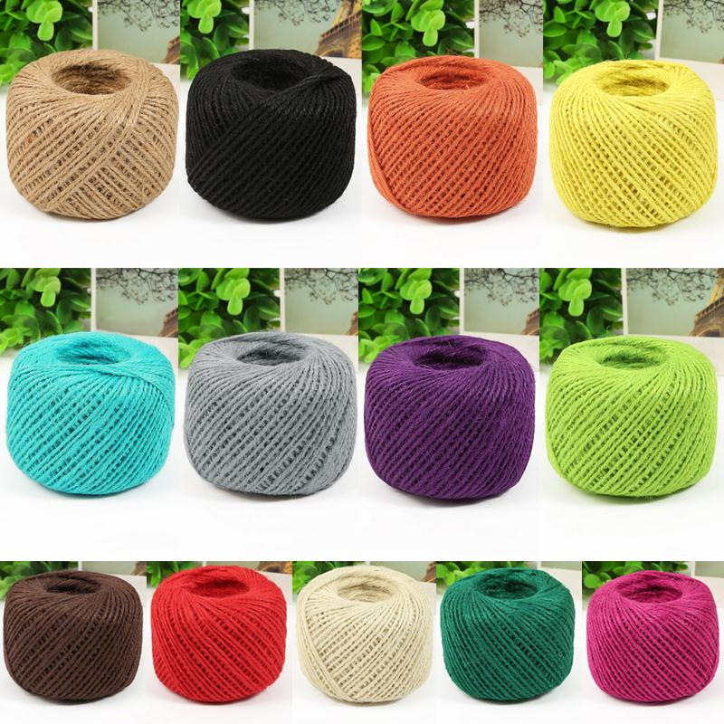 50 Meters Jute Twine DIY 1 Ply Natural Sisal Twine 2mm Rustic Wedding Decoration Thin Twisted Jute Rope String Cord Christmas Y1(China (Mainland))