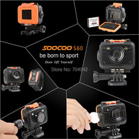 "Original SOOCOO S60 Sports Action Video Camera Waterproof 60m SOS Anti- Shake 170 Degree Wide Angle WiFi 1.5 "" LCD Camera"