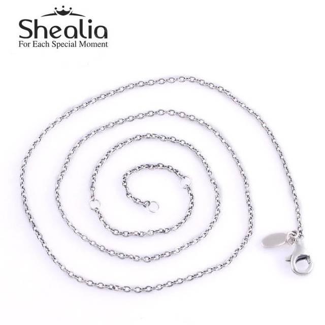 Аутентичные 925-Sterling-Silver застежка омар регулируемый длинные ожерелья для женщин подвески ожерелье ювелирных украшений DIY дизайн YL002