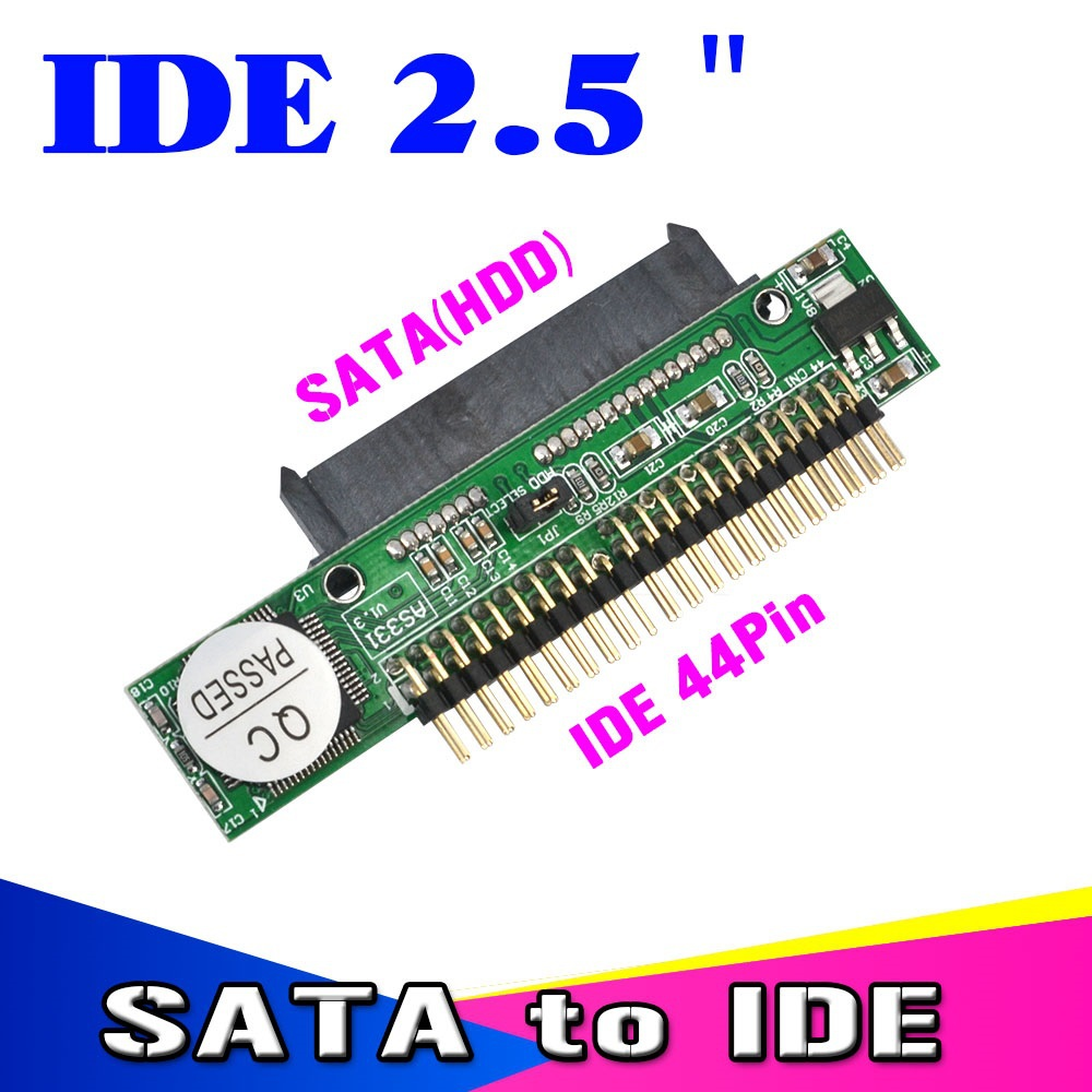 """Sata to IDE 2.5 Sata Female to 2.5"""" inch IDE Male 40pin port 1.5Gbs Support ATA 133 100 HDD CD DVD Serial Adapter Converter(China (Mainland))"""