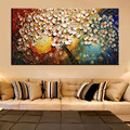 unframed Handpainted Canvas Wall Art Abstract Painting Modern Acrylic Flowers Palette Knife Oil Painting for Home