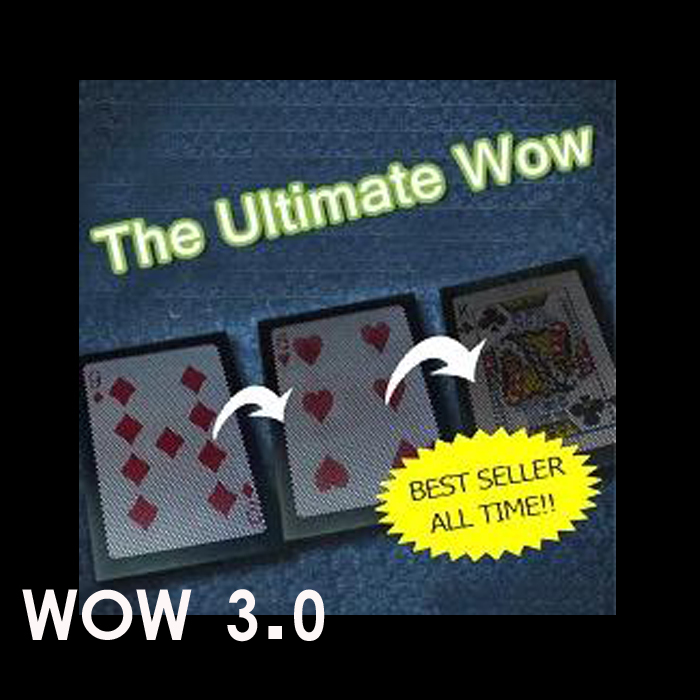The ultimate wow 3.0 change twice exchange close-up stage street card magic tricks products free shipping as seen on tv(China (Mainland))