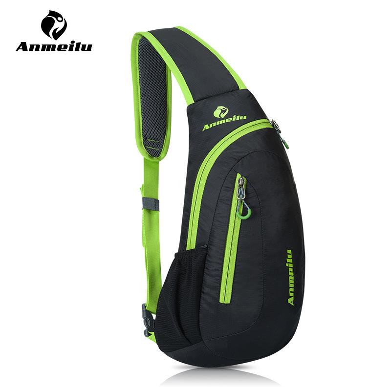 ANMEILU Sport Bag Waterproof Tear-resistance Nylon Outdoor Camping Hiking Running Cycling Chest Bag Messenger Shoulder Bag(China (Mainland))
