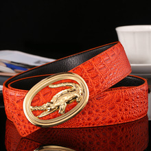 Buy 2017 New Designer Brand Mens Belts High Cow Genuine Leather Crocodile Grain Business Luxury Belt Men Freeshipping for $12.90 in AliExpress store