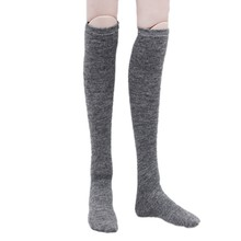 Fashion BJD Doll Clothes Solid Color Knee-high Stocking Long Socks Handmand Dress Up Dolls Clothes Accessories Girls Baby Toys(China)