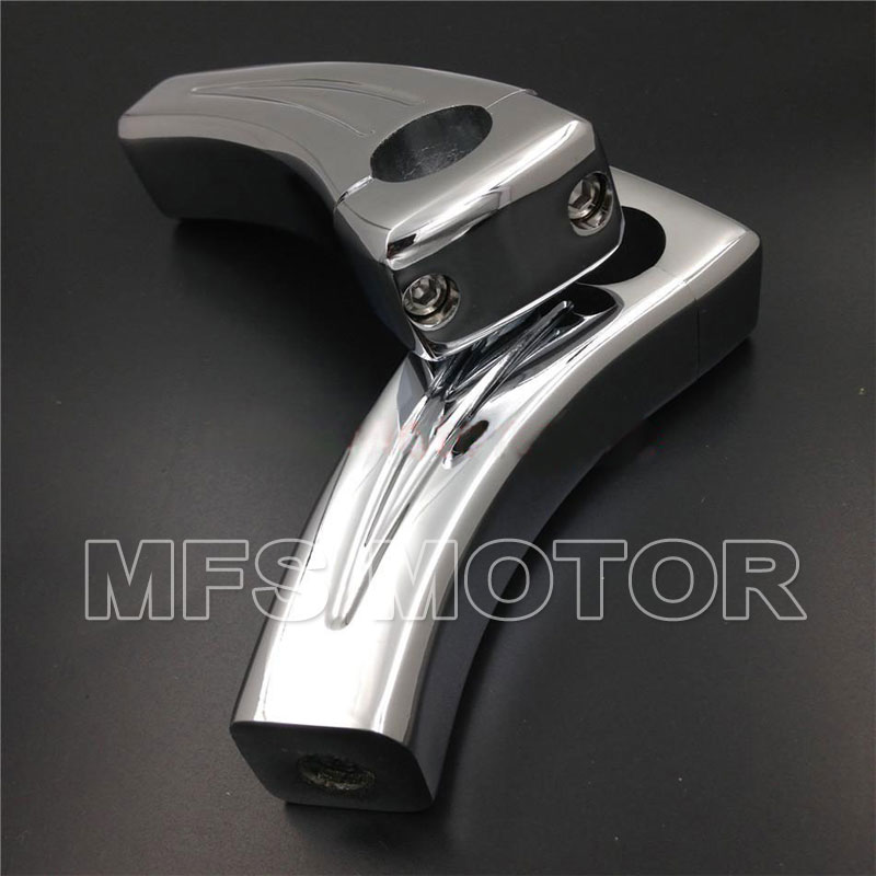 Chrome Handlebar Risers Honda Shadow VT750 1100 VTX 1300 C R S GL1800 Rebel Motorcycle Accessories - MFS MOTOR Store store