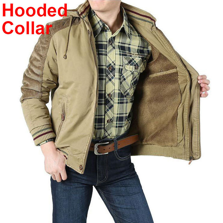 New Winter Military Brand Jacket Men Warm Thicken Casual Pockets Hooded Collar Plus Size 4xl 5XL 6XL Casual Coats Men Jacket 918Одежда и ак�е��уары<br><br><br>Aliexpress