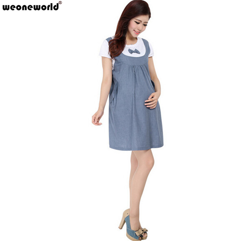 WEONEWORLD 2017 New Hot Sale Retail 1PC Maternity Clothes Summer Dress for Pregnant Women Casual Cotton Maternity Dresses(China (Mainland))