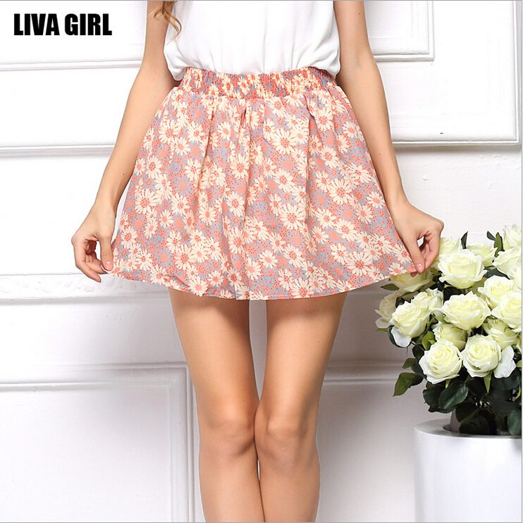 Женская юбка Flower Print Skirt LIVA GIRL 2015 /7 Flower Print Skirt 13626