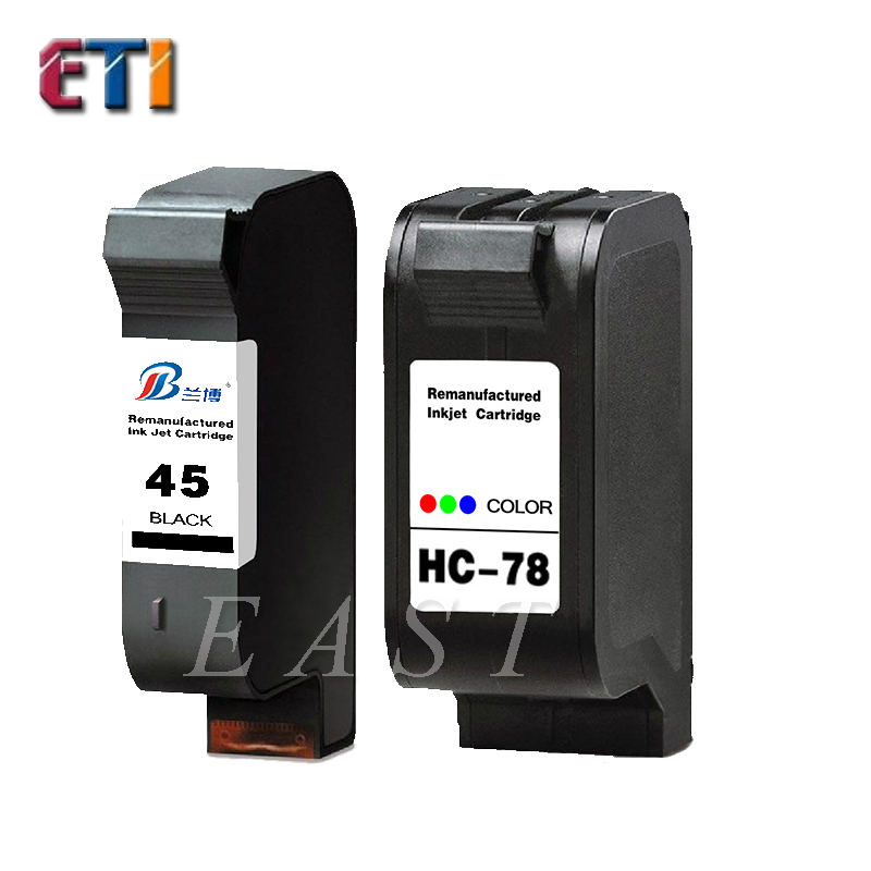 [ETI]Applicable for HP hp45 78 ink cartridges clothing CAD plotter special 1180 c 1180 a for HP1280 cartridges(China (Mainland))