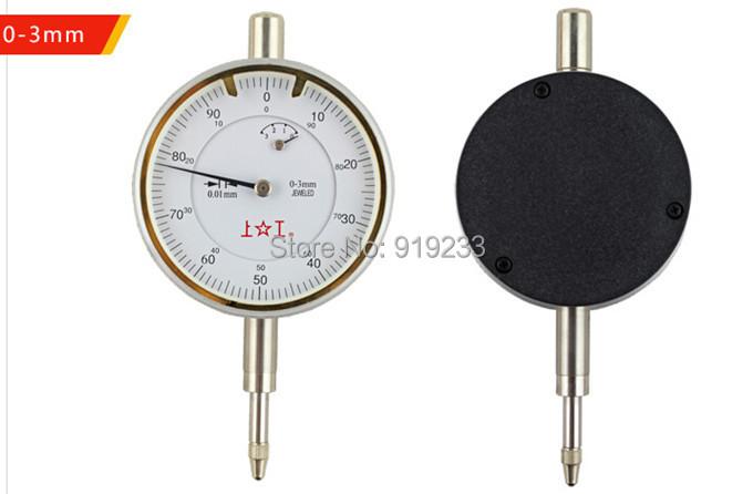 Free shipping pointer type dial test indicator 0.01mm dial gage,dial gauge 0-3-5-10-30mm shanggong brand