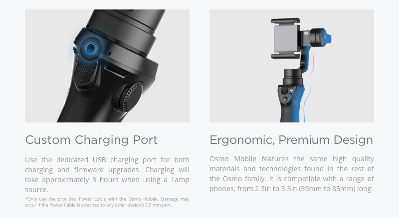 DJI Osmo Mobile 3-axis gimbal system turning every shot into cinematic video In stock