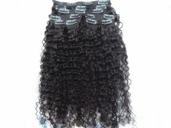 new star brazilian hair extensions sufaya hair products kinky curly clip in weaves 9pcs 10-30inch black  dark brown color